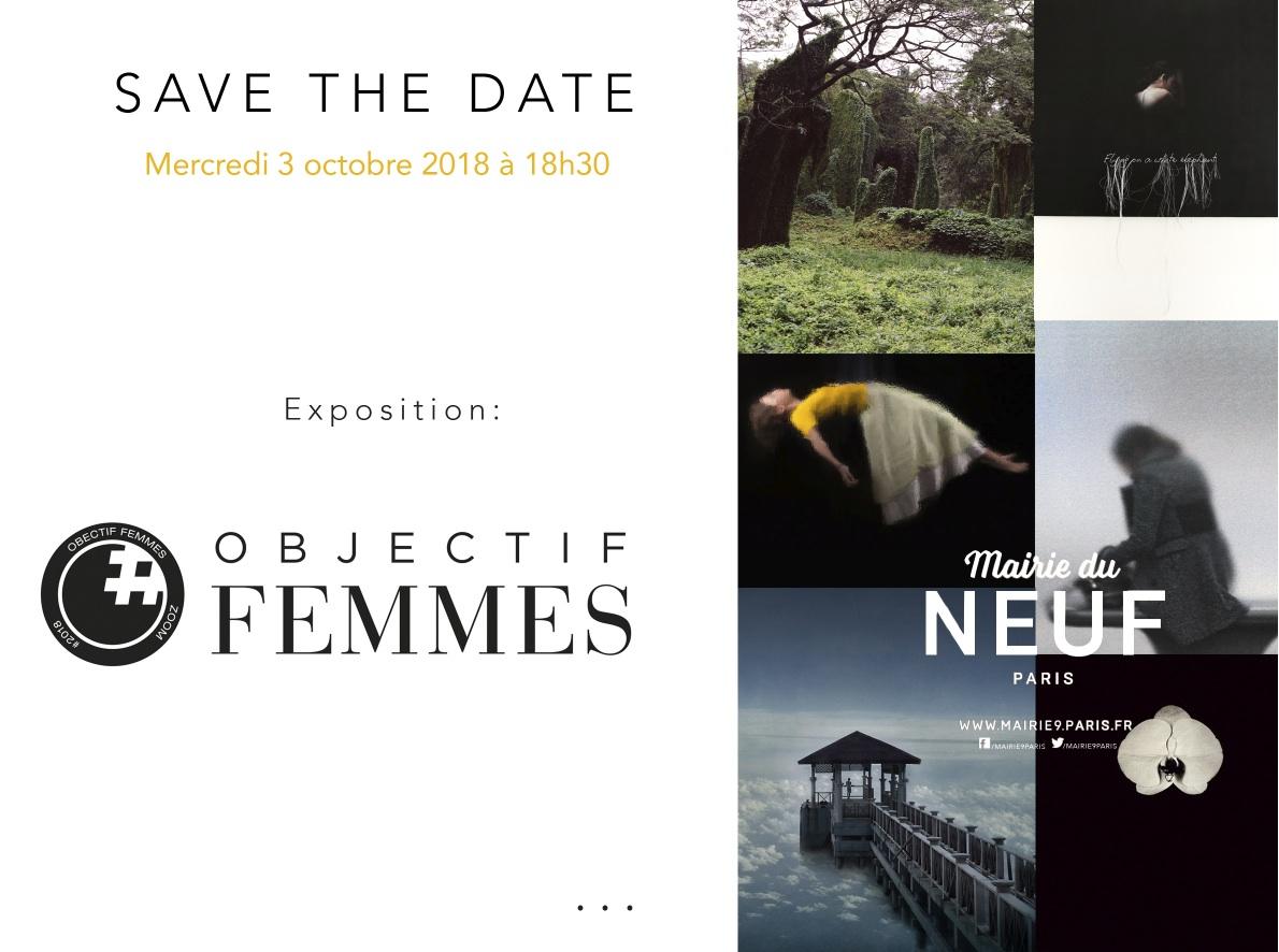 EXPOSITION ADRIENNE ARTH A PARIS DU 3 AU 19 OCTOBRE DANS LE CADRE D'OBJECTIF FEMMES